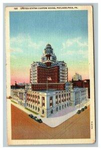 Vintage 1930's Postcard United States Custom House Philadelphia Pennsylvania