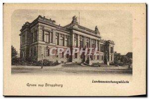 Old Postcard Gruss aus Strasburg Landesausschussgebaude