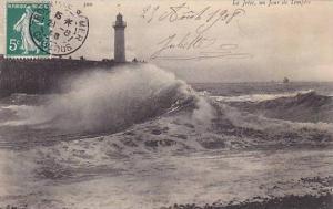La Jetee, un Jour de Tempete, Haute-Normandie, France, 00-10s