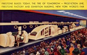 NY - 1939 New York World's Fair. Firestone Tires Production Line