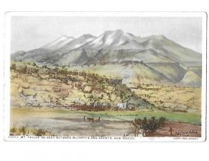 Fred Harvey 13953 Mt. Taylor Artist Mary Leeds Fulton Phostint New Mexico