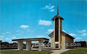 Abilene, KS, USA Postcard Place of Meditation, Eisenhower Center