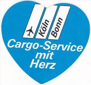 HERZ CARGO SERVICE VINTAGE LUGGAGE LABEL