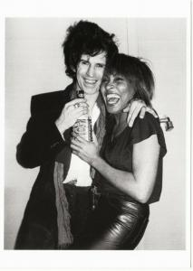 Keith Richards Tina Turner and Jack Daniels in 1983 Rolling Stones Postcard