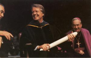 President Jimmy Carter receiving Honorary Degree at University of Notre Dame
