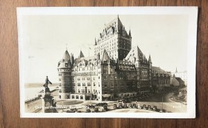 RPPC VIEW OF CHATEAU FRONTENAC, QUEBEC CITY, QC, CANADA, 1930'S