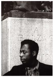 Postcard American Writer, James Baldwin, Paris, 1956 by Sam Shaw #56714
