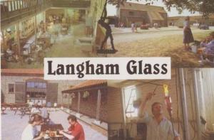 Langham Glass Making Norfolk Rare Craft Crafts Postcard