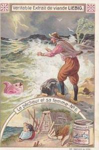 Liebig Vintage Trade Card S834 The Fisherman & His Wife Card No 6 Le Pecheur ...