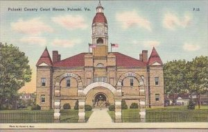 Virginia Pulaski Pulaski County Court House