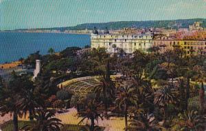 France Nice Le Monument du Centenaire le Theatre de Verdure et l'Hotel Ruhl 1962