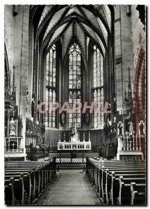 Modern Postcard Thann Ht Rhin Interior of Cathedrale Saint Thiebauf