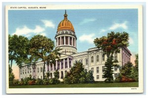 Postcard State Capitol, Augusta ME Maine 1957 G33