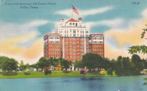 DALLAS, Texas, PU-1961; Lake Cliff Showing Cliff Towers Hotel