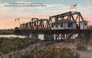 International Bridge Across Rio Grande Between Brownsville Texas and Matamora...