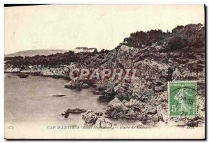 Old Postcard Cap D & # 39Antibes study rocks