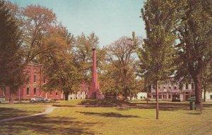 MILAN , Ohio , 50-60s ; Public Square, Civil War Monument & Town Hall