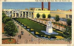 Tullip Gardens New York Worlds Fair 1939 Exhibition 1940 crease right bottom ...