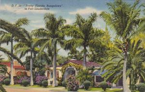 Florida Fort Lauderdale Pretty Florida Bungalows In Fort Lauderdale 1953