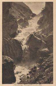 Switzerland Kandersteg Wasserfall in der klus 02.92