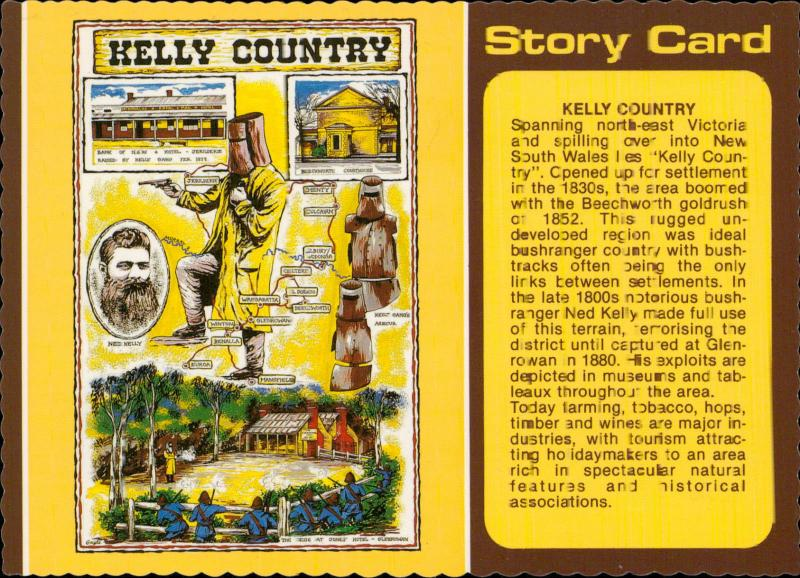 Story Card Kelly Country Glenrowan Victoria Australia
