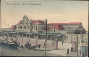argentina, BAHIA BLANCA, Estacion del Ferrocarril Sud, Railway Station (1919)