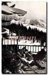 Old Postcard Megeve in winter Superior Teleferique Gare du Mont d'Arbois