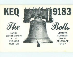 Liberty Bell Patriotic - Qsl Ham Radio Card State Of Delaware DE t0903