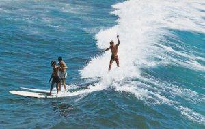 Three Men Surfing, 1940-60s