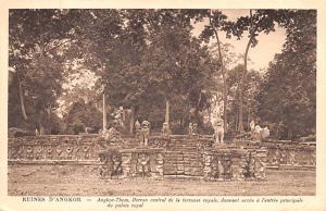 Ruines D'Angkor Cambodia, Cambodge Angkor Thom, Perron central de la ferrasse...