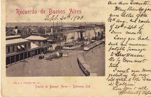 Argentina - Port of Buenos Aires - Darsena Sud 1903