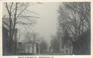 Greencastle Pennsylvania~Homes @ South Carlisle Street~Real Photo Postcard c1913