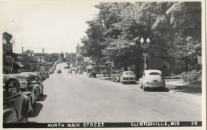 RP: CLINTONVILLE , Wisconsin, 1930-40s ; North Main Street
