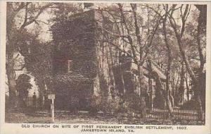 Virginia Jamestown Island Old Church on Site of First Permanent English Settl...