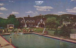 The Swimming Pool and Cedars At The Ste. Adele Lodge, Ste. Adele-en-Haut, Que...