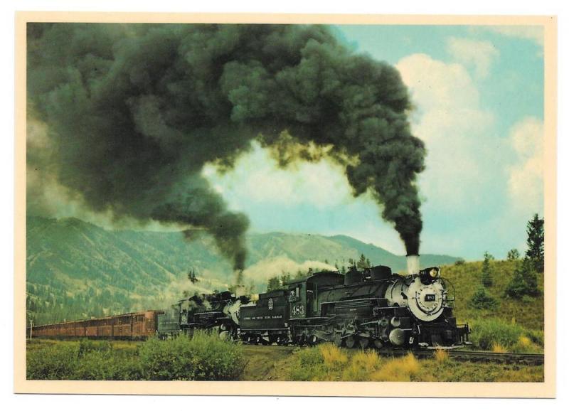Cumbres & Toltec Scenic Railroad Steam Engines RR Postcard