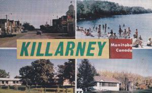 KILLARNEY, Manitoba, Canada, PU-1963; Business Section, Beach At Erin Park, C...