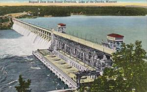 Missouri Lake Of The Ozarks Bagnell Dam From Scenic Overlook Curteich