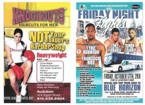 Modern Advertising Card Fight Night Knockouts Haircuts