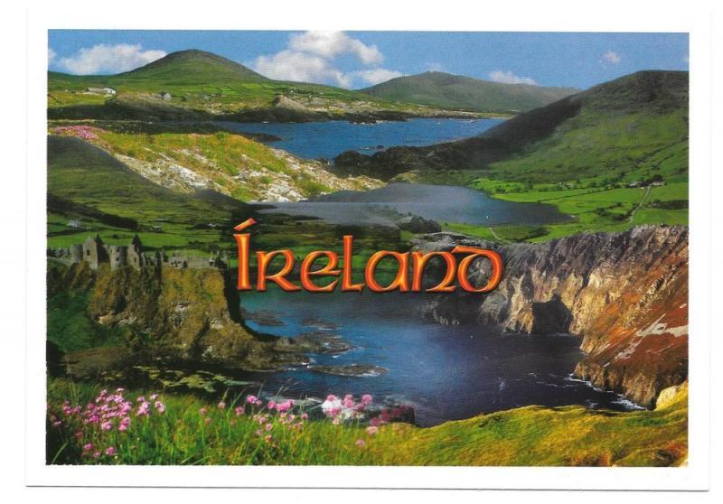 Ireland Galway Panorama Lake Hills John Hinde 4X6 Postcard
