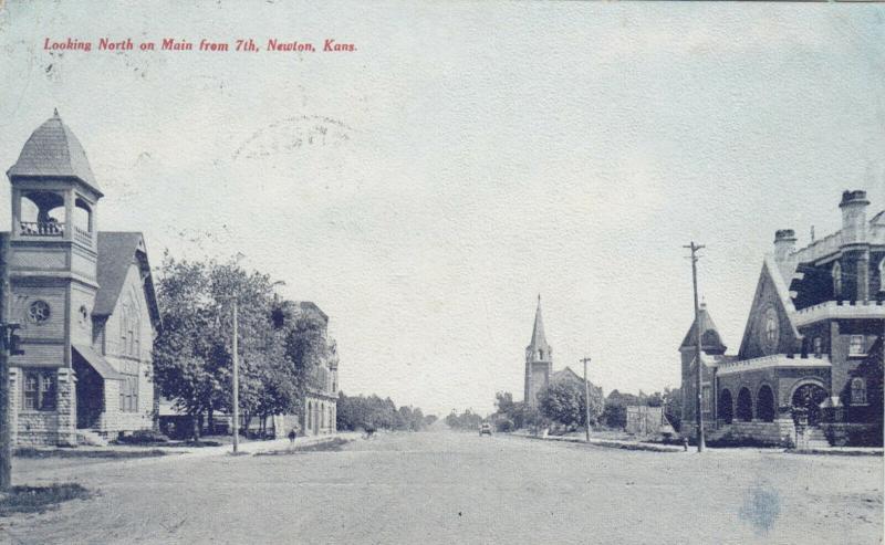 NEWTON , Kansas, 1910 ; North  on Main Street