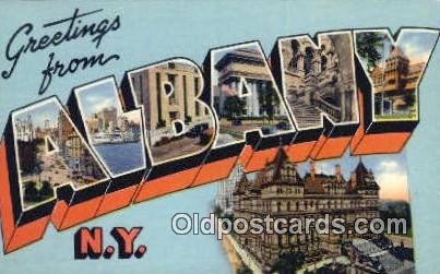 Albany, NY, USA Large Letter Town Unused