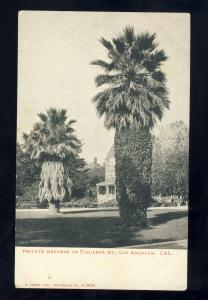 Los Angeles, California/CA Postcard, Private grounds On Figueroa Street