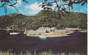 Nelson's Dockyard from Clarence House, Antigua, British West Indies, 40-60s
