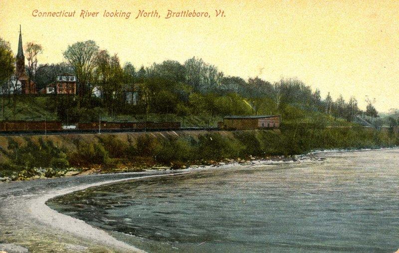 VT - Brattleboro. Connecticut River looking North