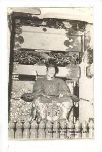 RP  Sadai-Jin, Guard at the Yomeimon Gate, Nikko, Japan, PU 1952