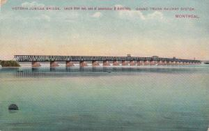 Victoria Jubilee Bridge, Grand Truck Railway System, Montreal, Quebec, Canada...