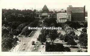 australia, MELBOURNE, Vic., St. Kilda Road, Tram (1960) RPPC