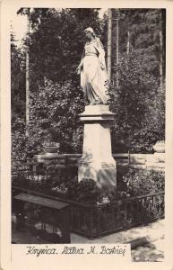 Poland Garden Statue Real Photo Antique Postcard J55735