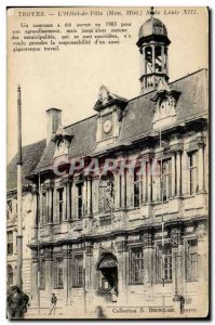 Troyes Postcard Old City Hall